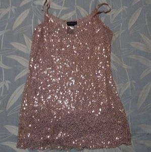 Gold Sequined Strappy Top